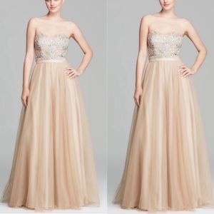 Aidan Mattox fit and flare gown